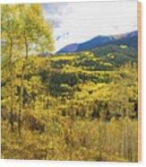 Fall Mountain Scenery Wood Print