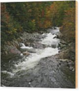Fall Mountain Stream Wood Print