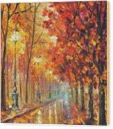 Fall Night Wood Print