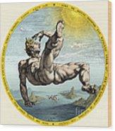 Fall Of Icarus, Greek Mythology Wood Print