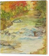 Fall On East Fork River Wood Print