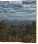 Fall On The All American Road Wood Print