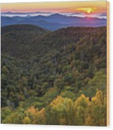 Fall On The Blue Ridge Parkway. Wood Print by Itai Minovitz
