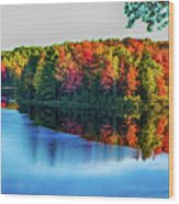 Fall On The Lake In Wisconsin Wood Print