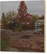 Fall On The Llano Wood Print