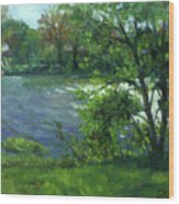 Fall On The Maumee River Wood Print