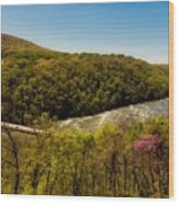 Fall On The Shenandoah River - West Virginia Wood Print