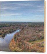 Fall Over Swift Creek Wood Print