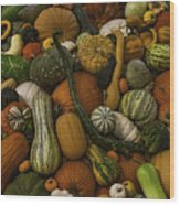 Fall Pile Wood Print
