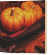 Fall Pumpkins Still Life Wood Print