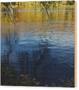 Fall Reflection At The River 2 Wood Print