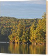Fall Reflection Wood Print by Michael Mooney