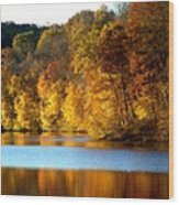Fall Reflections Of Indiana Wood Print