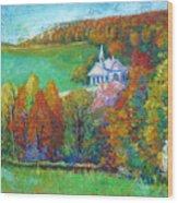 Fall Scene Wood Print