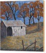 Fall Shed Wood Print