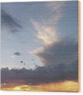Fall Sky At Sunset Wood Print
