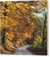 Fall Splendor Wood Print by Cheryl Helms