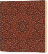 Fall Splendor Mandala Wood Print