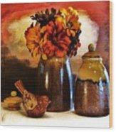 Fall Still Life Wood Print by Marsha Heiken