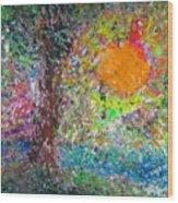 Fall Sun Wood Print