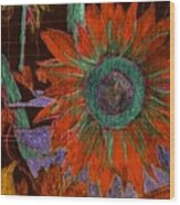 Fall Sunflower Wood Print