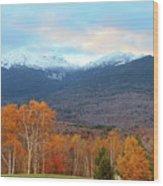 Fall Sunset On Adams And Madison Wood Print