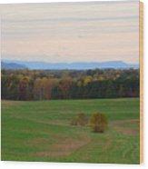 Fall View Of The Blue Ridge Mountains Wood Print