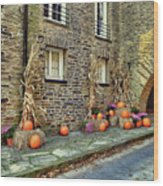 Fall Walkway  Wood Print