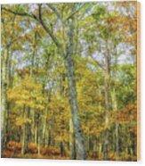 Fall Yellow Wood Print