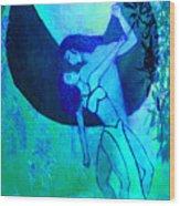 Fallen Angel Wood Print