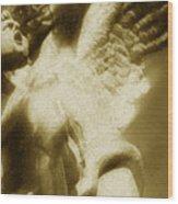 Fallen Angel Vertical Gold Wood Print
