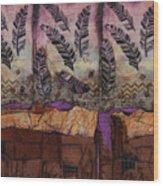 Fallen Feathers  Wood Print
