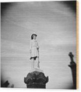 Fallen Fireman's Memorial In Calvary Cemetery In New York City Wood Print