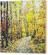 Fallen Leaves Of Autumn Wood Print