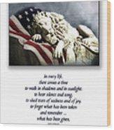 Fallen Patriot Wood Print
