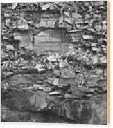Fallen Rocks Wood Print