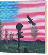 Fallen Soldier Wood Print