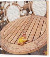 Fallen Yellow Autumn Leaf Wood Print