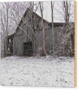 Falling Barn Wood Print