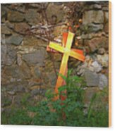 Falling Crosses Wood Print