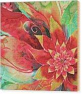 Falling Flower Wood Print