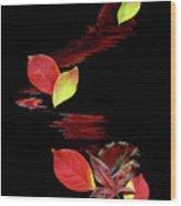 Falling Leaves Wood Print by Gerlinde Keating - Galleria GK Keating Associates Inc
