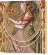 Falling Leaves Wood Print by John Edwards