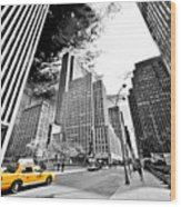 Falling Lines - Rockefeller Center Wood Print by Thomas Splietker