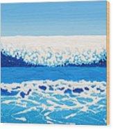 Falling Sea Wood Print