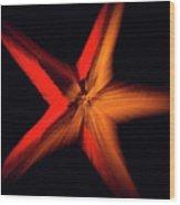 Falling Starfish One Wood Print