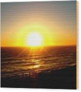 Falling Sun Wood Print