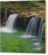 Falling Water Falls Wood Print