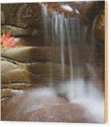Falling Water Wood Print