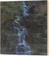 Falls At 6 Mile Creek Ithaca N.y. Wood Print